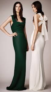 burberry wrapped bodice evening gown in green lyst