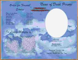 funeral programs templates free 4 funeral program template word teknoswitch