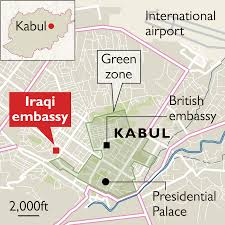 Kabul Map Isis Claims Bombing That Triggered Battle In Heart Of