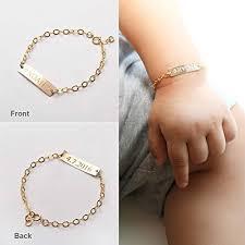 gold name bracelet custom baby name bracelet adjustable baby toddler