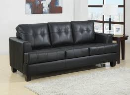 Leather Sofa Tufted by Toronto Tufted Black Leather Sleeper Sofa Bed By True Contemporary