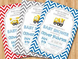 construction baby shower construction baby shower invitation baby boy chevron invites