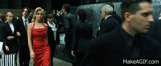 red matrix gif the matrix the woman in the red dress on make a gif