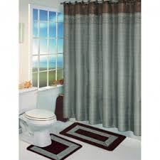Chocolate Brown And Blue Curtains Blue Brown Shower Curtain Foter