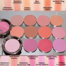 makeupgeek blush swatches and finishes im so exited to get the new additions makeup junky problems