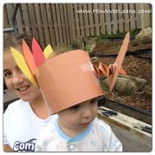 thanksgiving crafts for bobbling turkey hat how wee learn