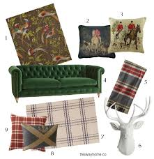 Tartan Chesterfield Sofa Tartan Pillows This Way Home