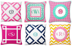 preppy decor 6 chic monogrammed pillows midtown