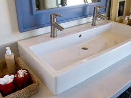 trough sink with 2 faucets impressive ideas bathroom sink with two faucets fabulous trough for