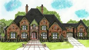 european house plan with porte cochere 13499by architectural