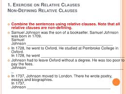 defining vs non defining relative clauses advanced