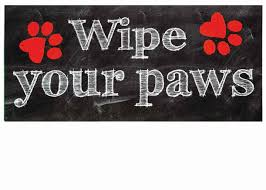 Welcome Mat Wipe Your Paws Wipe Your Paws Switch Mat 10 X 22 Insert Doormat