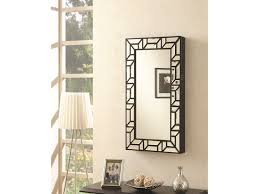 coaster accent mirrors wall mounted jewelry armoire del sol