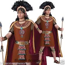 c905 mayan king native indian mens wild west warrior halloween