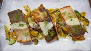 salmon with summer squash and dill sauce today