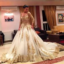 custom made wedding dress custom made gold lace wedding dress 2018 sleeve luxurious