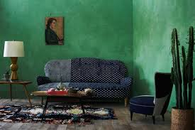 blue and forest green living room interior design