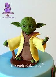 yoda cake topper 3d fondant yoda topper cake by violet the violet cake shop