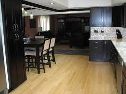 Kitchen With Light Oak Cabinets In Kitchen Wood Floors Light Oak Cabinets Hardwood Dazzling Black