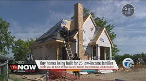 tiny homes being built for 25 low income families
