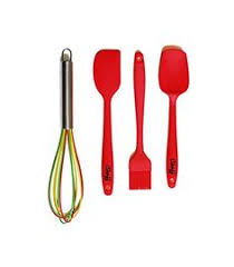 Red Kitchen Utensil Set - kingree silicone kitchen utensil set stainless steel large cooking