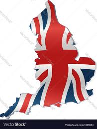 British Flag With Red Uk Map With British Flag Royalty Free Vector Image