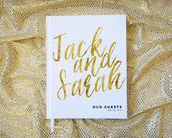 customizable guest books gold wedding guest book personalized book custom faux foil