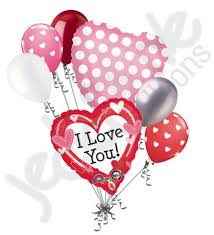 heart balloon bouquet i you dotted heart balloon bouquet jeckaroonie balloons