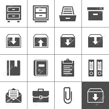 archive icon set simplus series each icon is a single object
