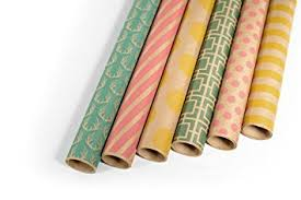cheap wrapping paper rolls kraft multi color printed wrapping paper set 6 rolls