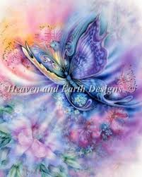 soaring free 2 butterfly cross stitch chart by heaven and earth