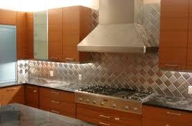 Brushed Stainless Steel Backsplash by Stainless Steel Tile Backsplash