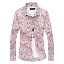men u0027s formal casual business floral long sleeve button t shirt