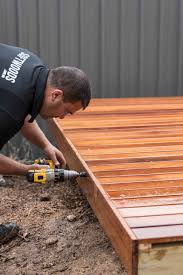 modular decking kit treated pine u0026 merbau softwoods