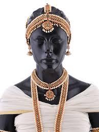 bharatanatyam hair accessories rent buy bharatanatyam set with pearls luxepick