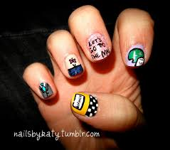tv inspired nail design ideas himym art nails and beauty nails