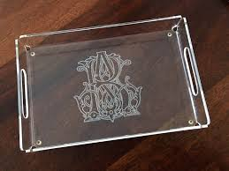 monogrammed serving trays antique wedding monogram serving tray south and sailor