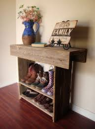Entry Way Table by Narrow Rustic Sideboard Table Beside Indoor Topiary Tree Using