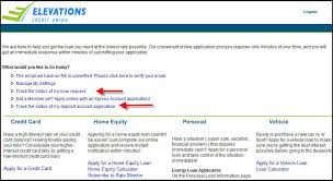 check the status of your online application elevationscu com