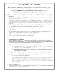 Commercial Lease Sample Perfect Residential Room Lease Agreement Template With Three
