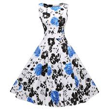 acevog vintage 1950 u0027s floral spring garden party picnic dress