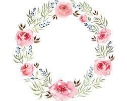flower wreath flower wreath clip blue wreath clip floral clip