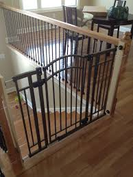 split level house baby proof stairs banister ideas