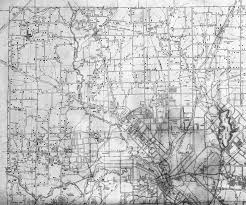 Dallas County Map by Highway Map Of Northwest Dallas County Texas 1936