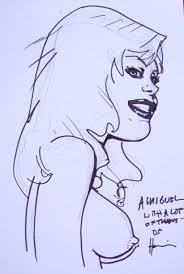 howard chaykin black kiss sketch in miguel a d u0027s convention