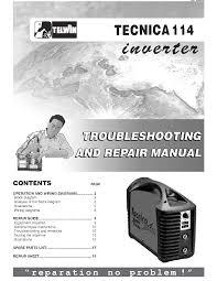 telwin tecnica 114 inverter welder sm service manual download