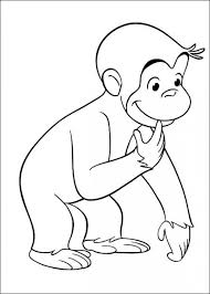 ba monkey coloring coloring pages kids adults