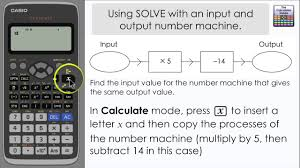 input output tables calculator solve a number machine where input output are the same casio