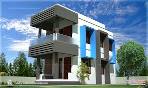contemporary compact villa design house design plans