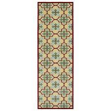 Easy To Clean Outdoor Rug Indoor Outdoor Luka Gold Tile Rug 2 6 X 7 10 By Kaleen Rugs